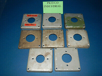"""Lot of 8 RACO 4"""" Circle Receptacle Cover 1/2"""" (.5"""") Raised"""