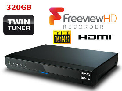Humax HDR-1800T Freeview+ HD SMART TV RECORDER, 320GB HDD HARD DRIVE Twin Tuner