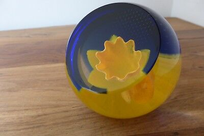 Caithness Glass paperweight, Floral Charms Daffodil, signed Caithness Scotland