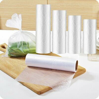 Plastic Produce On Roll Clear Bags Kitchen Storage Food Fruit Vegetables 350/Bag