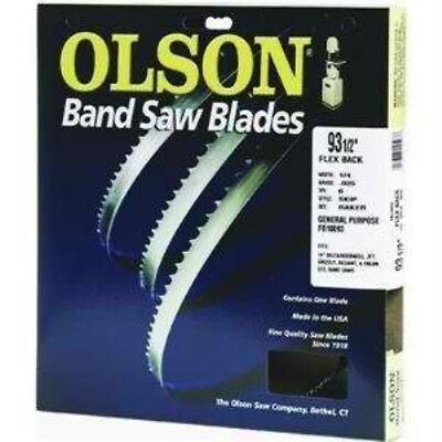 Olson Saw FB23193DB 1/2 by 0.025 by 93-1/2-Inch HEFB Band 3TPI Hook Saw Blade