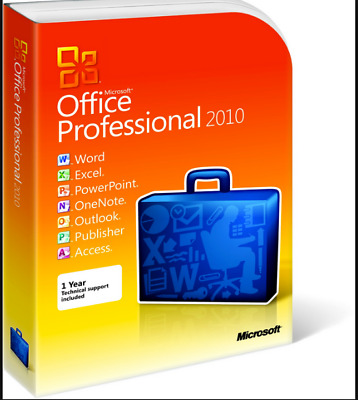 Microsoft Office 2010 Professional Plus 100% Genuine Retail Fast