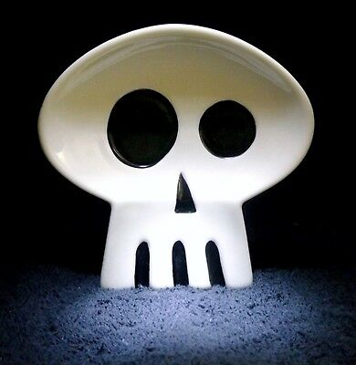 SHAG Rare JAPAN 2006 WHITE TIKI Collectibles SKULL TRAY Limited Edition Art -NEW