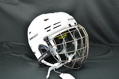 5b1ccff8dfa BAUER REAKT 200 Ice Hockey Helmet Combo White Medium (0522-BA-REA200 ...