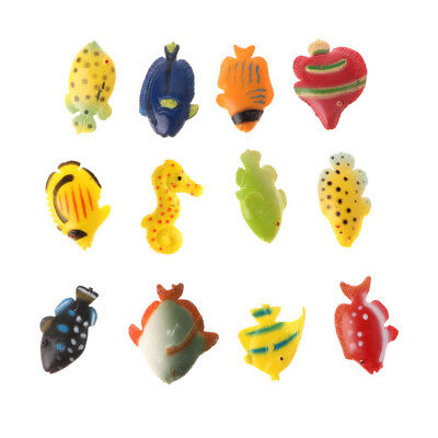 12pcs Small Plastic Marine Animals Model Figures Children Preschool Toy