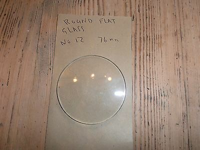 Round Flat Clock Glass