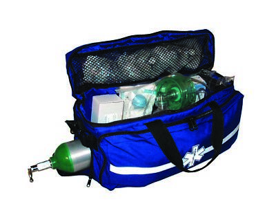Blue Duffle Bag with O2 Access - First Responder Bag, EMS/EMT (sold empty)