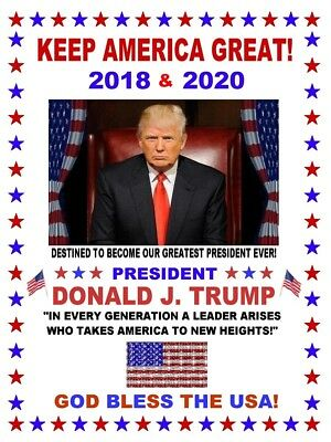 "(2) TWO 3 ""x 4"" KEEP AMERICA GREAT PRESIDENT TRUMP PATRIOTIC REFRIGERATOR MAGNET"