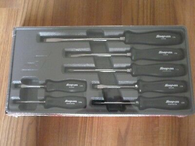 Snap on 7 Piece Classic Square Drive Hard Handle Screwdriver Set In Black New