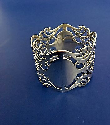 English Sterling Silver Reticulated Pierced Napkin Ring Birmingham