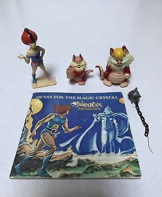 Vintage 1980's Thundercats WilyKit & Snarf Action Figures plus Book Lot of 5