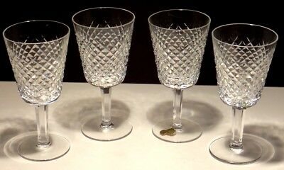 "4 Vintage Waterford Alana Water Glasses 6 7/8""  ~ Made In Ireland"