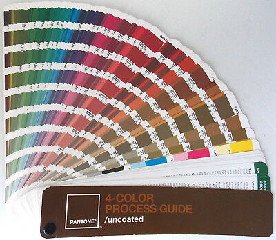 Pantone 4-Color Process GUIDE /  Uncoated for Lithography Printing Graphic Art