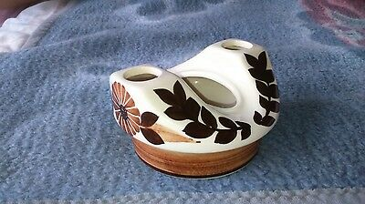 Jersey Pottery Porcelain Toothbrush Toothpaste Holder Bathroom Tidy Impressed C1