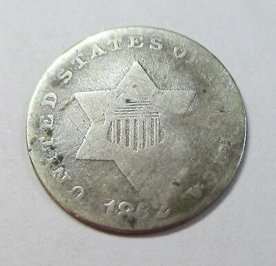 1852 Silver 3 Cent Piece
