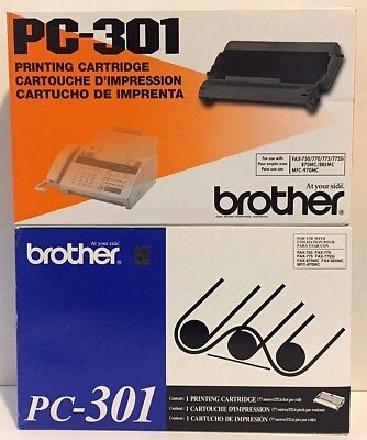 Brother PC-301 Printing Cartridge X2 New