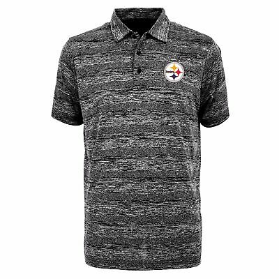 43b38c8287a PITTSBURGH STEELERS ANTIGUA NFL Men s Formation Polo Shirt SZ Large ...