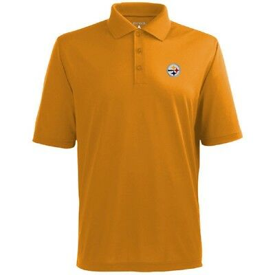 0c4a58f9c Pittsburgh Steelers Antigua NFL Men s Pique Xtra-Lite Polo Golf shirt Size  Large