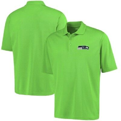 ee7e6a60783 Seattle Seahawks Antigua NFL Men's Pique Xtra-Lite Polo Golf shirt Size  Large