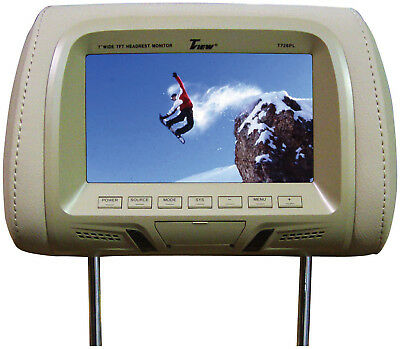 "Tview 7"" Tft/Lcd Car Headrest With Monitor Pairtan"