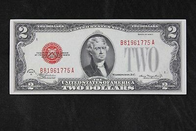 $2 1928C CU large red seal US Note B81961775A two dollar series C, FREE SHIP.