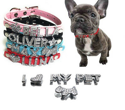 🔥 Pet Personalized Collar Crystal Rhinestones Names for Dog Cat Pu Leather 🔥