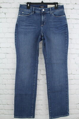 Nydj Not Your Daughters Jeans Marilyn Straight Women's Heyburn Wash Size 12