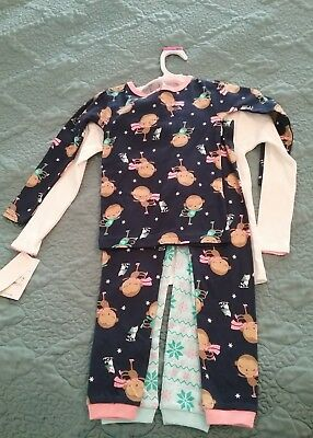 NWT Carters Girls Cotton Pajamas, 2 Pairs, Size 3T