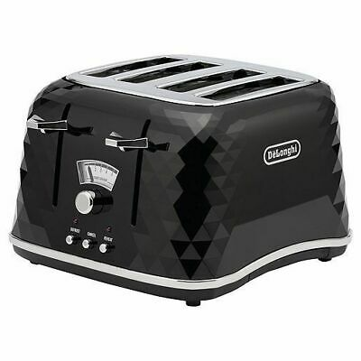 De'Longhi CTJ4003.BK Brillante 4 Slice Electronic Control Toaster in Black