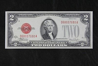 $2 1928F GEM large red seal US Note D68037680A two dollar series F FREE SHIPPING