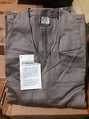 Fireproof Coveralls by Pyrovatex Sizes: Sm-5XL Colors: Grey, Khaki & Rust