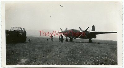 "WWII photo- Martin B-26 Marauder Bomber plane IN TOW w/ Nose Art - THIS IS ""IT"""