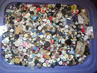 Lot of Assorted Antique & Other Buttons, 4 pounds
