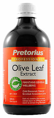 Pretorius Olive Leaf Extract 500ml - Assist immunity and heart health
