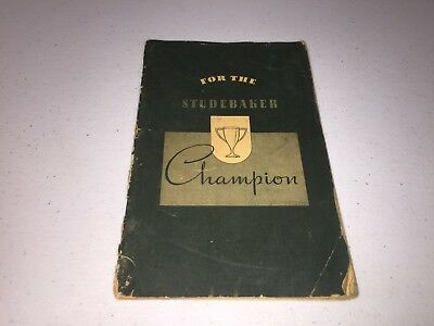 Studebaker Champion Accessories Catalog Sales Manual 1939?