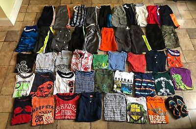 HUGE lot Of Boy's Size 4 / 4T Summer Clothes Carter's Children's Place Used Nice