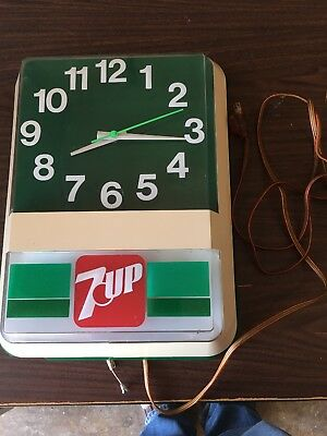 7-Up Clock Antique With Back light