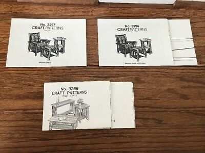 NEW Mission Arts and Crafts Style Mission Furniture Patterns Plans