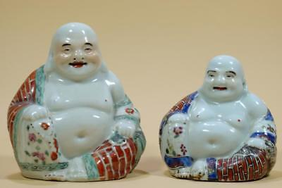 Two Chinese Famille-Rose Laughing Buddhas,Period Of Republic.