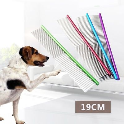 Pet Comb Professional Steel Grooming Cleaning Hair Trimmer Brush Shedding Dog OL
