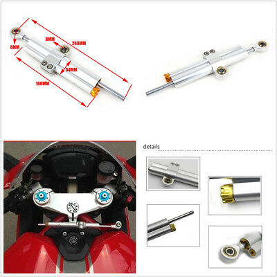 240mm Universal CNC Aluminum Motorcycle ATV Steering Direction Damper Stabilizer
