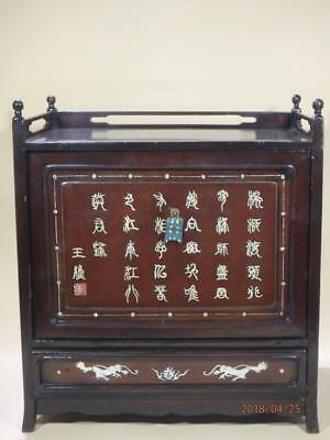 Antique Chinese Wood Mother Of Pearl Inlay Box.Works Perfect.