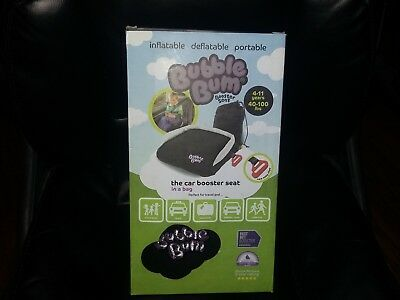 NEW BubbleBum inflatable Portable Booster Car Seat ~ ages 4-11 ~ 40-100 lbs