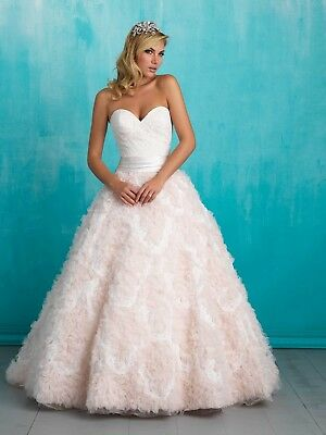 Allure 9315 Ivory Sizes 6,8,10,12 Strapless ruffles floral wedding dress