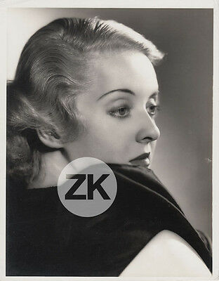 BETTE DAVIS Glamour WARNER BROS Stardom Hollywood Elmer FRYER Photo 1935