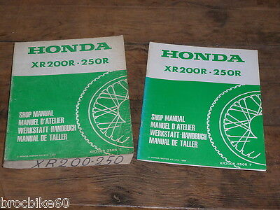 MANUEL REVUE TECHNIQUE D ATELIER HONDA XR 200 250 R 1984 -1985 shop manual XR200