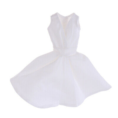 Fashion Doll Princess Skirt Formal Dress for 30cm Doll Clothes White