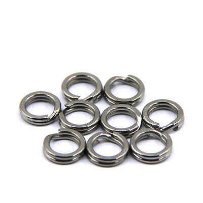 50/100pcs Stainless Steel Snap Split Ring Lure Tackle Connector Fishing Solid