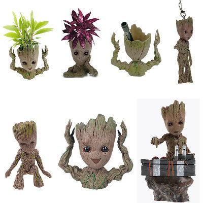 Guardians of The Galaxy Vol. 2 Baby Groot Figure Flowerpot Pen Pot Keyring Gift