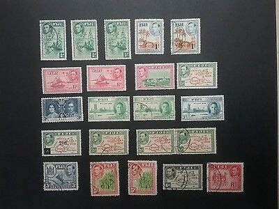 Fiji 1937 - 1950 mint & used stamps